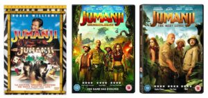 Jumanji movie covers